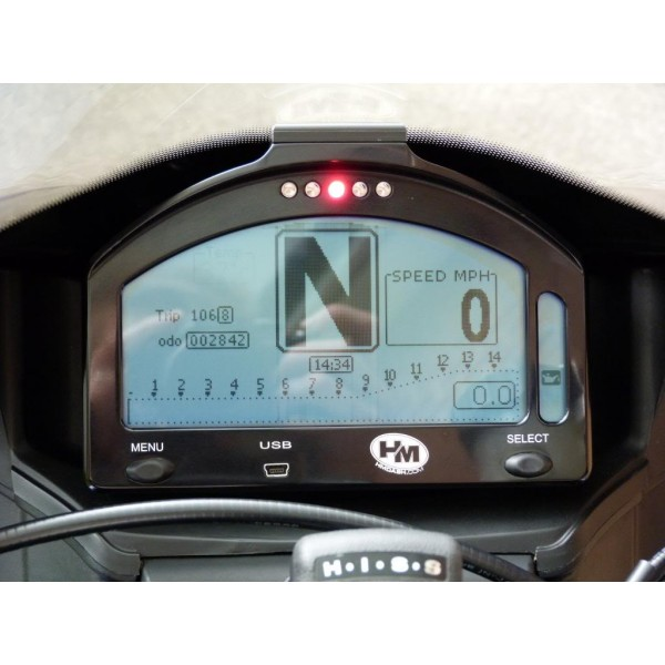 Hm Dash is made to suit a variety of motorcycles which are mainly used or converted to track or race bikes. Made by bestsupsm5.cf this motorcycle digital dash has all the inbuilt gauges that come standard with your road bikes motorcycle dash but also includes all the extra's for use on the race track.