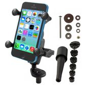 RAM-B-176-A-UN7U - RAM Fork Stem Mount with Short Double Socket Arm & Universal X-Grip® Cell/iPhone Cradle