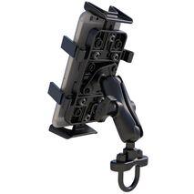 RAM-B-149Z-UN4U - RAM Handlebar Rail Mount with Zinc Coated U-Bolt Base and Universal Finger-Grip™ Holder