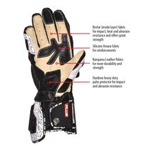 Predator Kangaroo/Cowhide Leather Gloves - Yellow