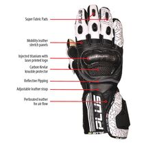 Predator Kangaroo/Cowhide Leather Gloves - Blue